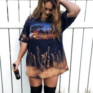 Oversized, Reworked Harley-Davidson T-shirt